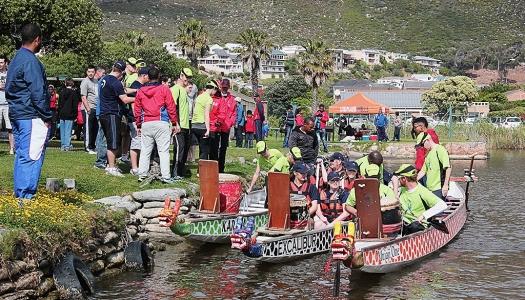 Boat crew loads up