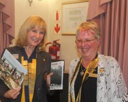 DG Lynette Stassen receives gifts from  Pres Marge Upfold