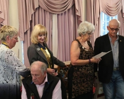 Induction with President and District Governor present